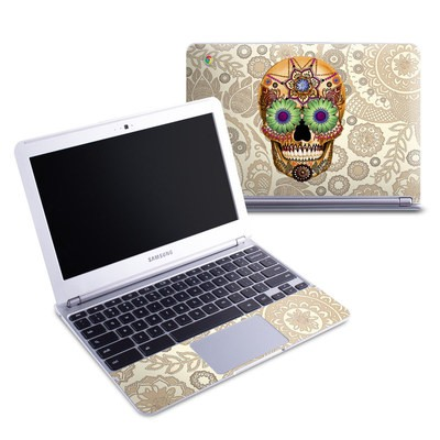 Samsung 11-6 Chromebook Skin - Sugar Skull Bone