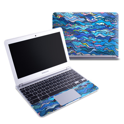 Samsung 11-6 Chromebook Skin - The Blues