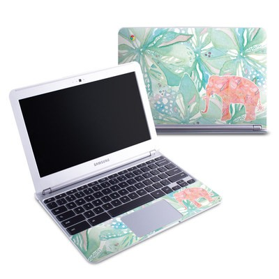 Samsung 11-6 Chromebook Skin - Tropical Elephant