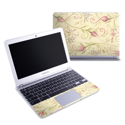 Samsung 11-6 Chromebook Skin - Tulip Scroll