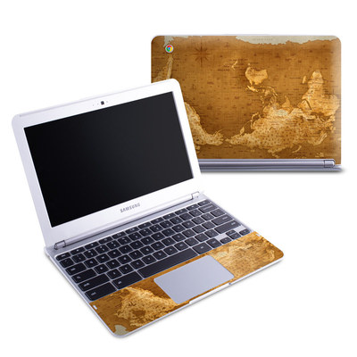 Samsung 11-6 Chromebook Skin - Upside Down Map