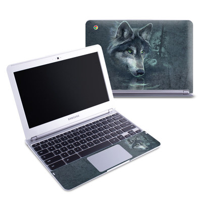 Samsung 11-6 Chromebook Skin - Wolf Reflection