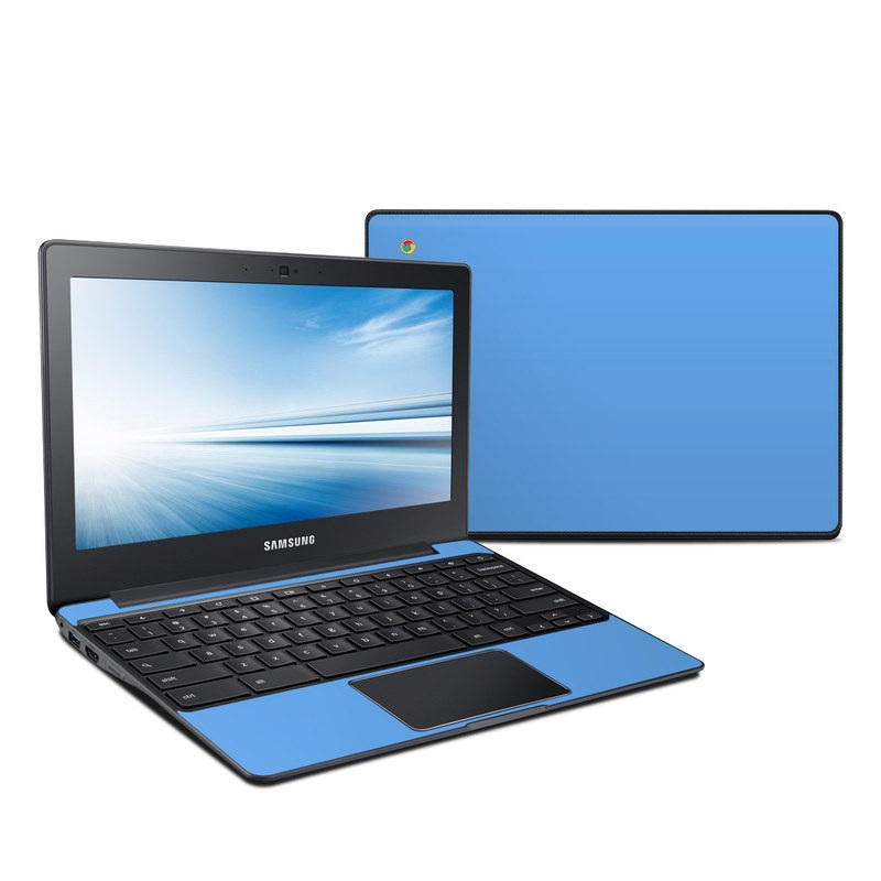 samsung chromebook 2 skin solid state blue by solid