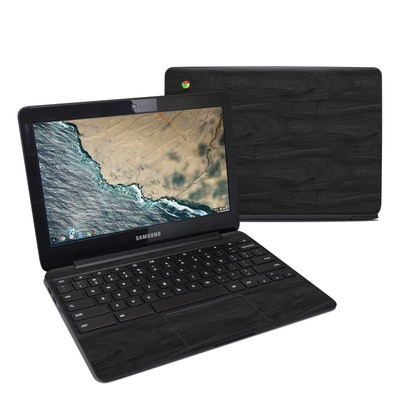 Samsung Chromebook 3 Skin - Black Woodgrain