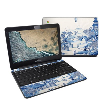 Samsung Chromebook 3 Skin - Blue Willow