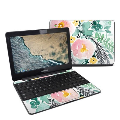 Samsung Chromebook 3 Skin - Blushed Flowers