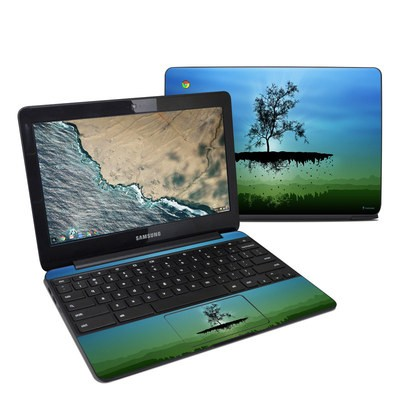 Samsung Chromebook 3 Skin - Flying Tree Blue