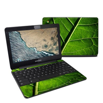 Samsung Chromebook 3 Skin - Green Leaf