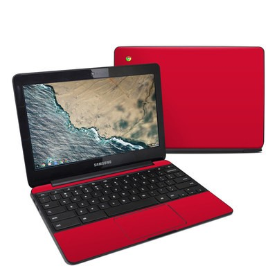 Samsung Chromebook 3 Skin - Solid State Red