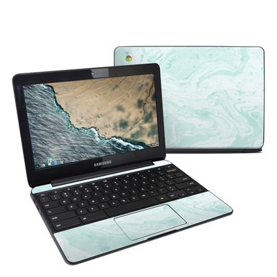 Samsung Chromebook 3 Skin - Winter Green Marble