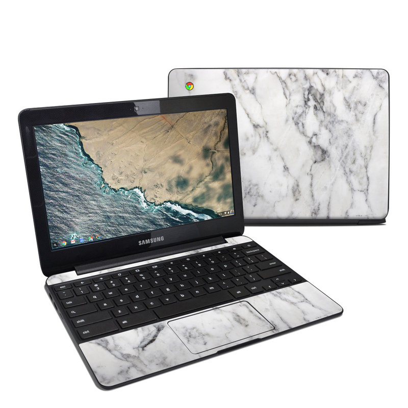 Samsung Chromebook 3 Skin White Marble By Marble