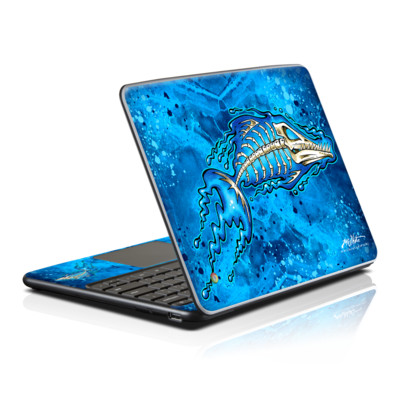 Samsung Series 5 Chromebook Skin - Barracuda Bones