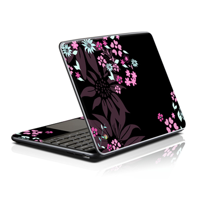 Samsung Series 5 Chromebook Skin - Dark Flowers