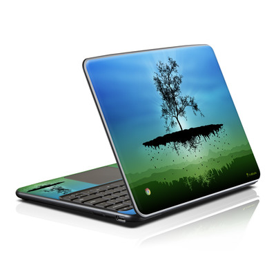 Samsung Series 5 Chromebook Skin - Flying Tree Blue