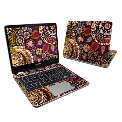Samsung Chromebook Plus Skin - Autumn Mehndi