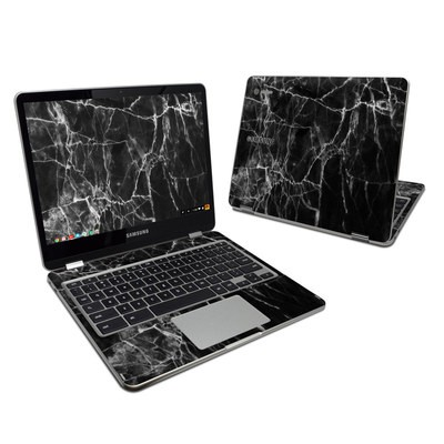 Samsung Chromebook Plus Skin - Black Marble