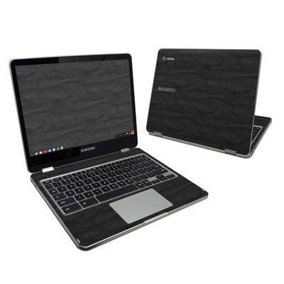 Samsung Chromebook Plus Skin - Black Woodgrain