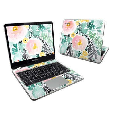 Samsung Chromebook Plus 2017 Skin - Blushed Flowers
