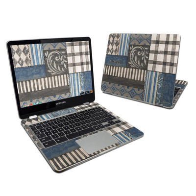 Samsung Chromebook Plus Skin - Country Chic Blue
