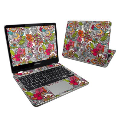 Samsung Chromebook Plus 2017 Skin - Doodles Color