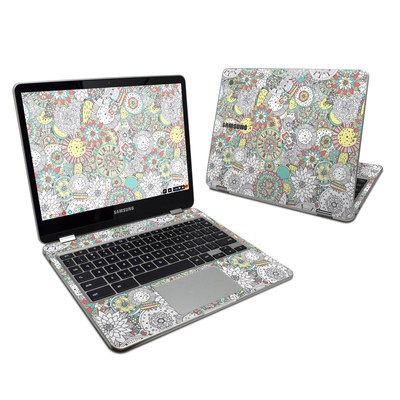 Samsung Chromebook Plus 2017 Skin - Faded Floral
