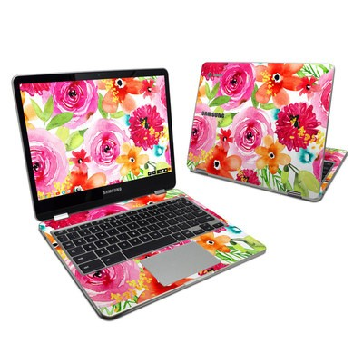 Samsung Chromebook Plus 2017 Skin - Floral Pop