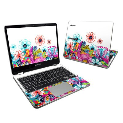 Samsung Chromebook Plus 2017 Skin - Intense Flowers