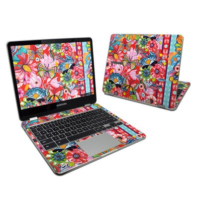 Samsung Chromebook Plus 2017 Skin - Intense Garden