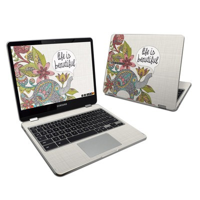 Samsung Chromebook Plus 2017 Skin - Life is Beautiful