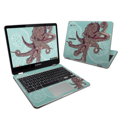 Samsung Chromebook Plus 2017 Skin - Octopus Bloom
