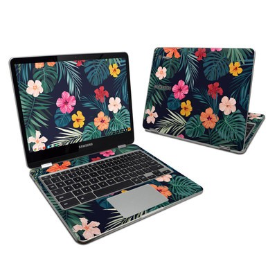 Samsung Chromebook Plus 2017 Skin - Tropical Hibiscus