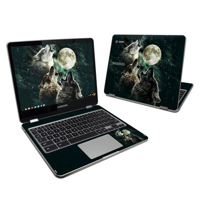 Samsung Chromebook Plus 2017 Skin - Three Wolf Moon