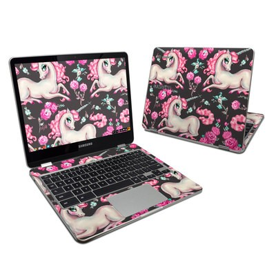 Samsung Chromebook Plus (2017) Skin - Unicorns and Roses
