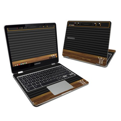 Samsung Chromebook Plus Skin - Wooden Gaming System