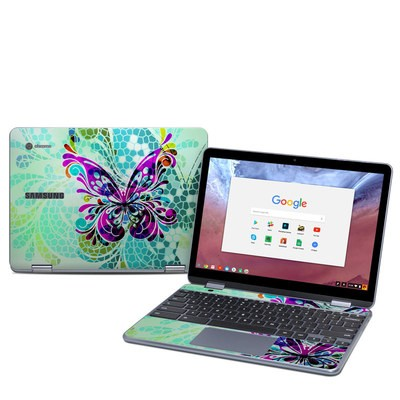 Samsung Chromebook Plus (2018) Skin - Butterfly Glass