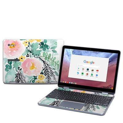Samsung Chromebook Plus (2018) Skin - Blushed Flowers