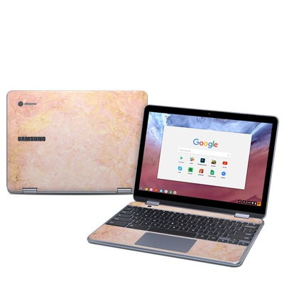 Samsung Chromebook Plus (2018) Skin - Rose Gold Marble