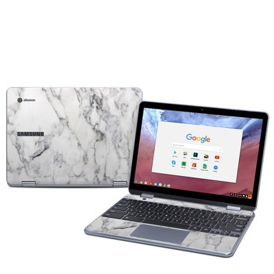 Samsung Chromebook Plus (2018) Skin - White Marble