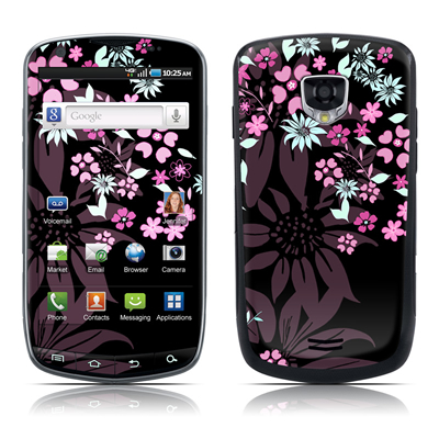 Samsung Droid Charge Skin - Dark Flowers