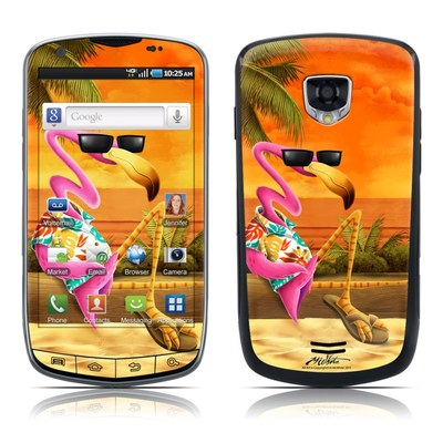 Samsung Droid Charge Skin - Sunset Flamingo