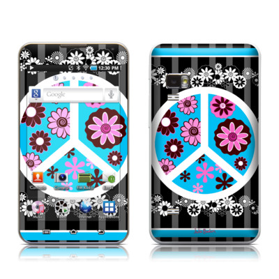 Samsung Galaxy Player 5.0 Skin - Peace Flowers Black