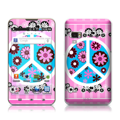 Samsung Galaxy Player 5.0 Skin - Peace Flowers Pink