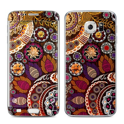 Samsung Galaxy S6 Edge Skin - Autumn Mehndi