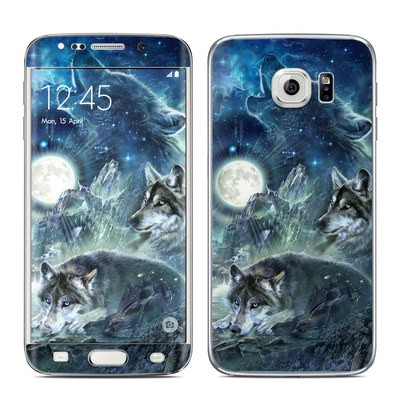 Samsung Galaxy S6 Edge Skin - Bark At The Moon
