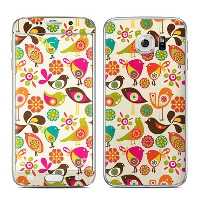 Samsung Galaxy S6 Edge Skin - Bird Flowers