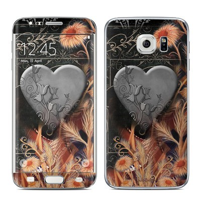 Samsung Galaxy S6 Edge Skin - Black Lace Flower
