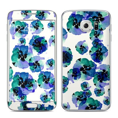 Samsung Galaxy S6 Edge Skin - Blue Eye Flowers