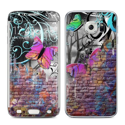 Samsung Galaxy S6 Edge Skin - Butterfly Wall