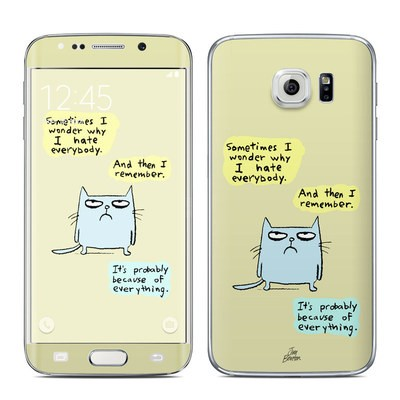 Samsung Galaxy S6 Edge Skin - Catwad Hate