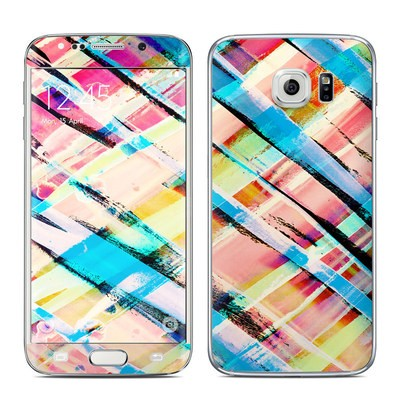 Samsung Galaxy S6 Edge Skin - Check Stripe